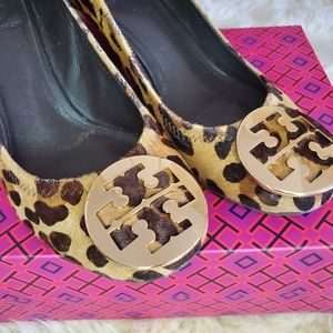 Tory Burch Leopard Wedge Shoes